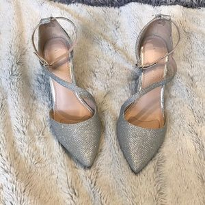 Kelly & Katie silver high heels